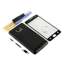 new black Full Housing Case+Screen Glass+tools For Galaxy S2 I9100 Digitizer