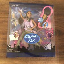 Simone Barbie American Idol doll microphone plays music Mattel sing along