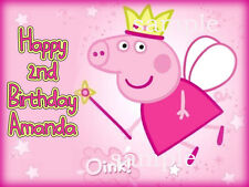 PEPPA PIG Edible CAKE Topper ICING Image Decoration Personalized FREE SHIPPING