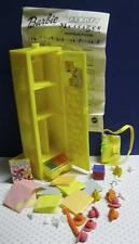 '99 Barbie Doll Secret Messages Yellow School Locker w Stamps/Access. Directions