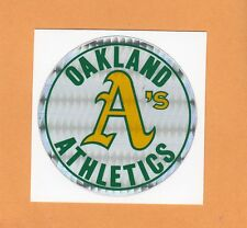 OLD VENDING MACHINE DECAL STICKER early 80s OAKLAND A's UNSOLD STOCK RARE