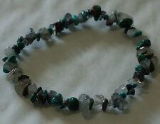 Turquoise et tourmaline en Quartz Chip Bead Healing Crystal Bracelet