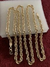 24 Inches 10 kt yellow gold 5.5 Grams rope chain lobster lock 4mm