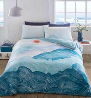 NAMI WAVES Duvet Cover & Pillowcase Bed Set by Sleepdown