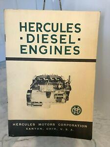 Vintage 1940 Hercules Motors Diesel Engines Questions & Answers Brochure Booklet