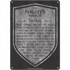 Game of Thrones The Night's Watch Oath Small Tin Sign
