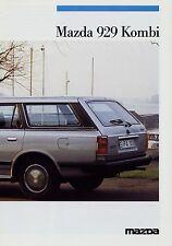 Mazda 929 Kombi Prospekt 4/86 Autoprospekt 1986 Broschüre Auto brochure broschyr