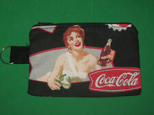 """VINTAGE COCA-COLA"" Coin Purse w/ Key Ring -Handmade"