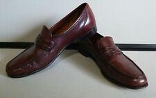 allen edmonds burgundy loafers size 11 B