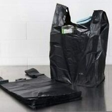 T Shirt Plastic Grocery Store Shopping Carry Out Bags Black 100 Ct