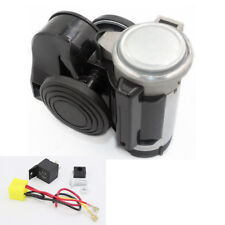 Car Vehicle Motorcycle Yacht Boat SUV Bike Electric Air Horn w/Compressor Black