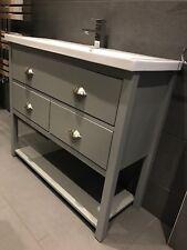 Wash Stand 1000mm wide 3 drawer Bathroom Cabinet Unit Painted Plummett Match f&b
