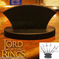 LOTR Lord of the Rings Letter Opener Fantasy Miniature Swords Wooden Stand Base