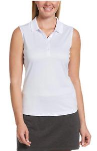 CALLAWAY GOLF Womens Opti Dri Sleeveless Polo - Brilliant White - SIZES XS S