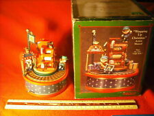 Ultra RARE Enesco Wrapping Up For Christmas Multi-Action/Lights Music Box MIB