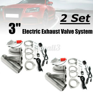 2x3'' 76mm Electric Exhaust Valve Downpipe System Remote Cutout Ecut