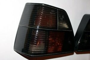 Genuine Volkswagen Golf GTI mk2 Dark Black Smoked FIFT Rear Tail Light Lamp Set