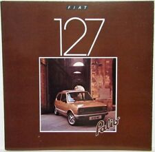1980 Fiat 127 Palio Sales Folder - UK Market