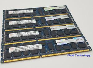 32GB (4x8GB) Dell HP Server Memory Hynix DDR3 PC3-10600R ECC Reg HMT31GR7CFR4A
