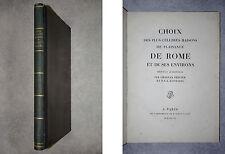 PERCIER ET FONTAINE. CHOIX DES PLUS CÉLÈBRES MAISONS DE PLAISANCE DE ROME. 1809.