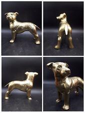 More details for stunning brass staffordshire bull terrier, figurine,sculpture,dog,ornament,2kg