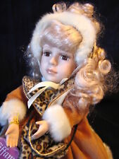 Beautiful Dan Dee Collector's Choice Tiffany Wind-up Musical Porcelain Doll