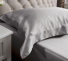 Jasmine Silk Oxford Silk Pillow Case Grey RRP £35