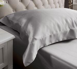 Jasmine Silk Oxford Silk Pillow Case Grey