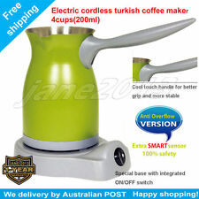 Green Electric Greek Turkish Coffee Maker+Anti Overflow Function Stainless Steel