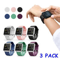 3 PACK Classic Replacement Wristband Band Strap For Fitbit Blaze Small/Large