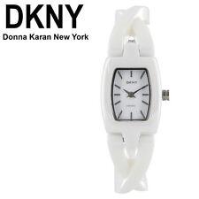 DKNY WOMEN'S WHITE TWIST LUXURY CERAMIC WATCH NY8728