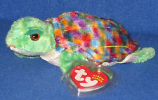 TY ZOOM the TURTLE  BEANIE BABY - MINT with MINT TAG (PRICE STICKER)