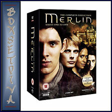 MERLIN - COMPLETE COLLECTION - SERIES 1 2 3 4 & 5 **BRAND NEW DVD **