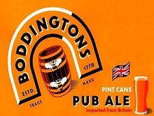 boddingtons pub bar Sign Retro metal Aluminium  boddies beer signs bitter cave