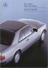 Mercedes Benz W124 Coupe 1988-89 Original Spanish Sales Brochure 230 CE 300 CE