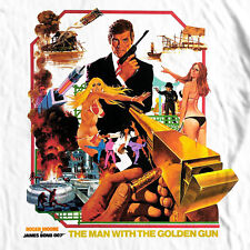 James Bond The Man Golden Gun T shirt 1970's movie retro 007 cotton graphic tee
