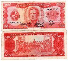 Uruguay Billet 100 Pesos ND (1967) P47 ARTIGAS BON ETAT