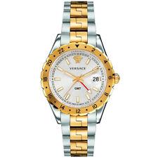 Versace V11030015 Hellenyium GMT silber gold Edelstahl Armband Uhr Herren NEU
