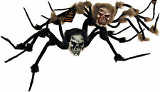 Set Of 2 XL Free Standing Giant Halloween Spider Decorations - Leg Span 60cm!