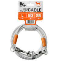 BV Pet Reflective Tie-Out Cable for Large Dogs Up To 90 lbs 25 Ft TC-25FT-SL