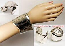$1,595 John Hardy sz S 81g Women Palu Kapal Silver Wide Cuff Bangle Bracelet NEW
