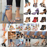 Women Ladies High Block Heels Sandals Pumps Ankle Strap Casual Party Shoes Boots