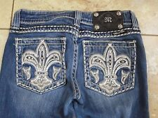 "Miss Me Jeans ""Princess Fleur de Lis"" Boot Cut 25 x 28"