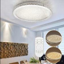 Modern Crystal LED Ceiling Light Bedroom Lamp Dimmable Lighting Chandelier + RC