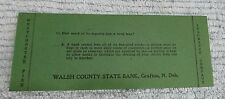 Old Westchester Fire Ins Walsh County State Bank Grafton ND Ink Blotter FREE S/H