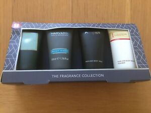 M & S Mens The Fragrance Collection Body Wash Set Of 4