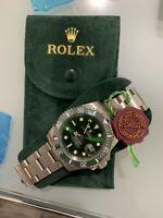 Neue Authentic Rolex Grün Smooth Flannel Original Jewelry Pouch Luxury Beutel ♕♕