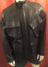 Medium VINTAGE UNWORN Ralph Lauren POLO Black Leather Panther MOTORCYCLE JACKET