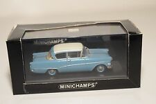 . MINICHAMPS OPEL REKORD P1 1958-1960 2 DOORS BLUE WHITE MINT BOXED