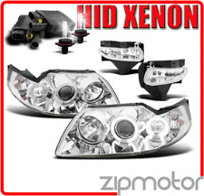 99-04 FORD MUSTANG HALO CLEAR PROJECTOR HEAD LIGHT+BUMPER DRIVING FOG+6K HID KIT